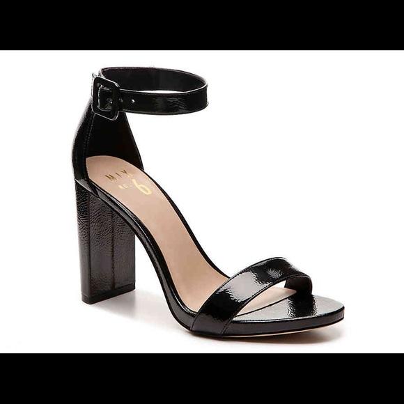 a2e6810e40c2 Cym Sandal- Black Patent Leather Block Heel. M 5b7c4ce742aa765bfb230ea9